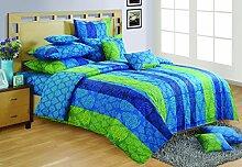 Yuga Dekor bedruckten Baumwoll dekorativen blauen