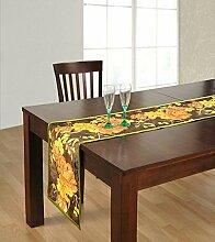 Yuga Dupion Seide?Tischläufer Digitale Gedruckt Tischläufer Wohnkultur Tischdekoration 12 X 72 Zoll