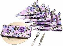 Yuga gedruckt Servietten mit 6 Stück 17 x 17 Zoll eingestellt 100% Baumwolle Tischwäsche Servietten Se