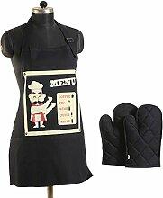 Yuga Graffiti Druck Köche Schürze mit Ofenhandschuhe Metzger Küche kocht Schürze Catering enden Lätzchen aus 100% Baumwolle