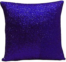 Yuga Metallic Blue Sequin Wurfkissenbezug Pillow Glitter Wedding Decor Lounge 24 X 24 Zoll