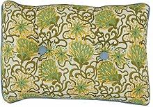 Yuga mit Blumenmuster Grün Dekorative Kantha Stich Baumwolle gefüllt Back Seat-Kissen-Kissen - Größe vorhanden