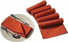 Yuga Plain Dinner Servietten Set aus 100% Baumwolle Tischwäsche Servietten Set mit 6 Stück 17 x 17 Inches