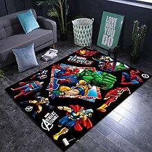 Yugy Teppich Kinder rechteckig Marvel Wohnzimmer
