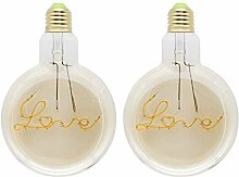 YUHANG 4W E27 Glühbirne, LED Warmweißes Licht