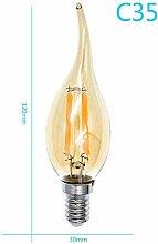 YUHANG Edison Glühbirne,LED Lampe Birne,E14