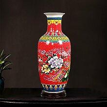 Yuhang Keramik, Leichte Kontinentale Bodenvasen Moderne Chinesische Wohnzimmer Dekorationen Tv-Schrank Schwingen - Xfc2,5