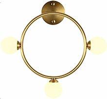 YUI Kreativ Modern Wandlampe Einfach Kupfer