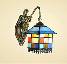 YUI Retro Einfach Wandlampe Kreativ Nachttisch Bar