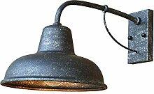 YUI Wandleuchte Industrial Wandlampe Antik Metall
