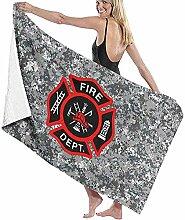 Roter Hahn 112 Feuerwehr 175x100cm Oversize Frottee Strandtuch Saunatuch Badetuch Handtuch Feuerwehrfrau Fire /& Fight Streetwear