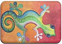 yui7 Ölgemälde Gecko Fussmatte Innen Außen -
