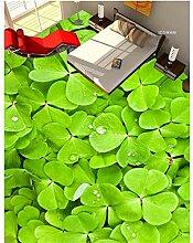YUKANGI 3D Bodenbelag Gras Klee 3D Bodenmalerei