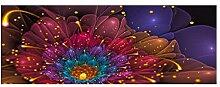 YUKANGI 3D-Wandtapete mit violetter Blume,