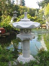 Yukimi auf Säule a japanische Steinlaterne Koi