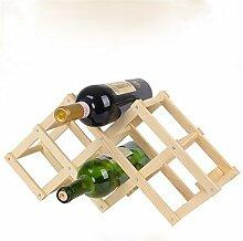 YULXS Weinregale Holz.44*43*31CM Wein Zubehör . 4