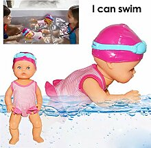yummyfood Interaktive Schwimmpuppe Babypuppen
