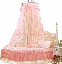 Yuncai Elegante Prinzessin Moskitonetz Dome Ceiling Bett Baldachin Vorhänge