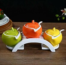 Yunfeng Gewürzgläser,Küche Keramik Gewürz