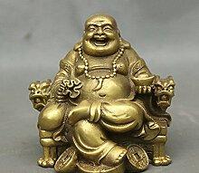 YUNHAO Chinesische Messing Dragon Stuhl sitzen,