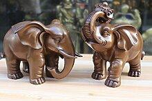 YUNHAO Nice Bronze Elefant Statue Skulptur Figur