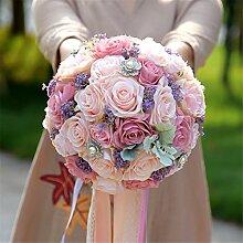 Yunhigh Jeweled Hochzeit Blumen Künstliche Brautstrauß Seide Blumen Hochzeit Bouquet Dekoration