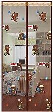 YUNJIE Magnet Fliegengitter Tür,Full-Frame Velcro