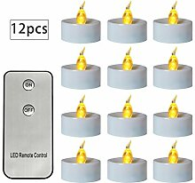 Yunso Flammenlose LED Kerze 12pcs Mit Elektrischem
