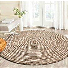 yunteng-rug Strick mit einem Seil rund Teppich