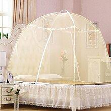 Yurts doppelte offene Tür Reißverschluss dinette Hause mit Moskitonetzen ( Farbe : Beige , größe : 1.5m (5feet) )