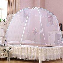 Yurts doppelte offene Tür Reißverschluss dinette Hause mit Moskitonetzen ( Farbe : Weiß , größe : 1.8 m (6 feet) )