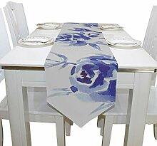 Yushg Blaue Rose Saisonale Elegante Blumen Kommode