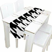 Yushg Schwarz Weiß Hunde Zahn Kommode Schal Tuch