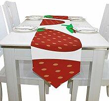 Yushg Strawberry Fruit Fashion Kommode Schal Tuch