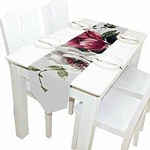 Yushg Tinte Elegante Blume Kommode Schal Tuch