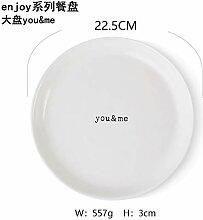 YUWANW Englisches Alphabet Teller Western Dish