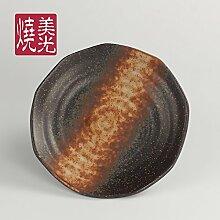 YUWANW Keramik Sushi Pan Platte Porzellan Grill