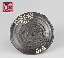 YUWANW Sushi Teller Keramik Porzellanplatte Grill