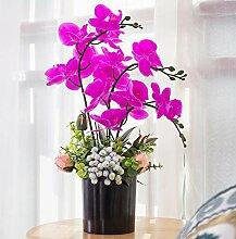 YUYAO Künstliche Orchidee Bonsai mit Vase, echte