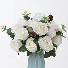 YUYAO Künstliche Rosenblüten Blumenstrauß 7