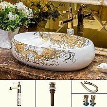 Yuye Europa Vintage Style Keramik Kunst Becken