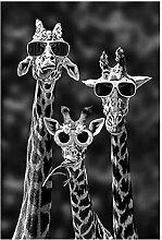 YUYUXI Giraffen mit Sonnenbrille Lustige