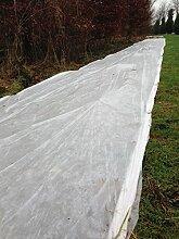 Yuzet 2x 10m Garten Pflanze Fleece Winter Frost Schutz Kleingarten–Weiß