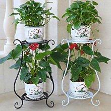 Yvsoo Blumenregal 2 Etagen Metall Blumenständer