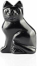 YWG Stone Schwarzer Obsidian, 5,1 cm große