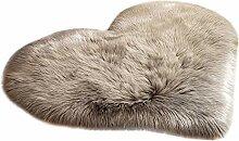 YWLINK Faux Fur rutschfeste Bettvorleger Sofa
