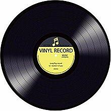 YWLINK Modern Vinyl Record Gedruckt Runde Teppiche
