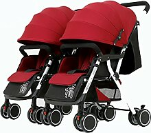 YXINY Kombikinderwagen Zwillinge Babywagen Kann
