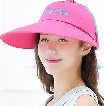 YXINY Sonnenhüte Baseball Cap Damen Visor Cap Sonnenschutz Anti-UV Sunhat Damen Accessoires Hüte & Mützen (Farbe : Pink)