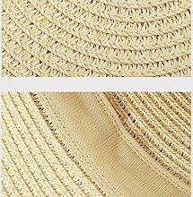 YXINY Sonnenhüte Damen Breiter Krempe Senden Sie eine Sonnenbrille Strand Ferien Sonnenschutz Zusammenklappbar Strohhut Damen Accessoires Hüte & Mützen (Farbe : Khaki)